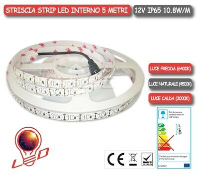 STRISCIA STRIP LED V-TAC 12V 10.8W/m - SMD5050 - 60LED/m BOBINA 5MT IP65