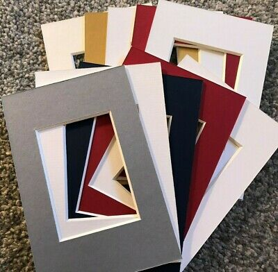 10 Picture Frame Mounts 6X4 Overall For 3.5 Inch X 2.5 Photo Different Colours