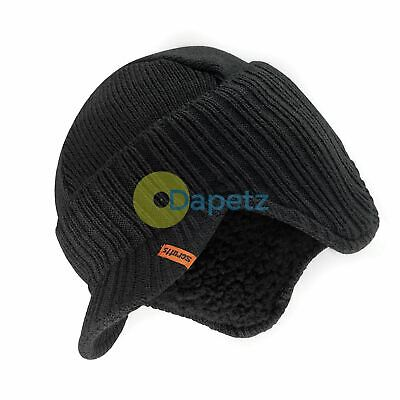73117812740 Scruffs Warm Winter Peaked Beanie Thermal Insulated Outdoor Black Work Hat  Cap