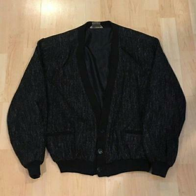 Vintage Cardigan Jacket sz Small Retro 1980's Black