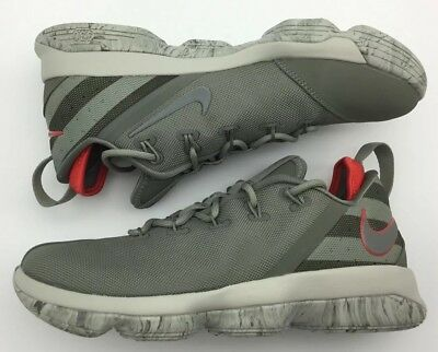 26d3614c228 NIKE LEBRON 14 XIV Low Dark Stucco Military Green Size 9.5. 878636 ...