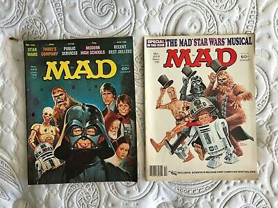 35 vintage MAD Magazines 1975-80 incl Star Wars, Jaws, Star Trek, Rocky, Grease