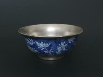 Superb Antique Chinese Porcelain Blue and White Bowl Kangxi Marked-bamboo