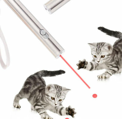 1mW 2 in 1 Red Laser Pointer Pen + White Light LED Flashlight Pet Cat Play Toy