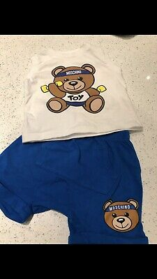 Baby Boy Moschino Toy Shortie Romper Suit Babygrow T-shirt Shorts Age 3-6 Months