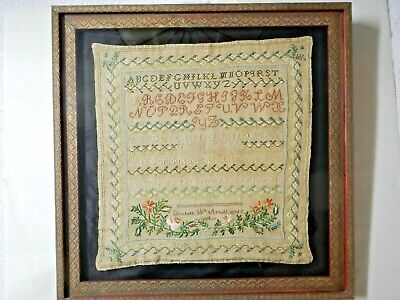 Antique 1834 Embroidery Sampler Handmade Cross Stitch (Elizabeth W. Arnold) Rare