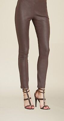 fd7ef5b59f9 CLARA SUN WOO NEW  69 Liquid Leather Legging in Brown XL