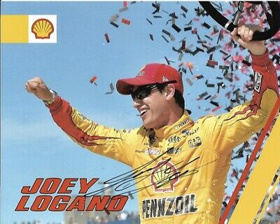 2017 Joey Logano Shell Pennzoil AAA NASCAR Signed Auto 8x10 Round Post Hero Card