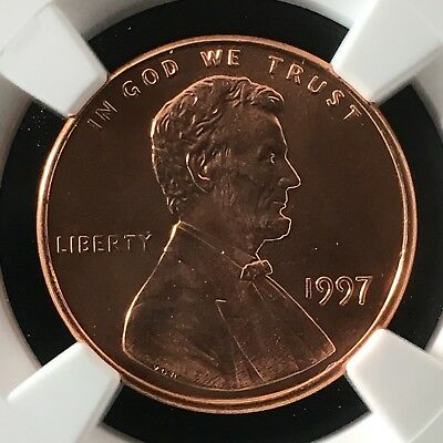 1997 1C RD Lincoln Memorial One Cent NGC MS68+RD                  4474344-003
