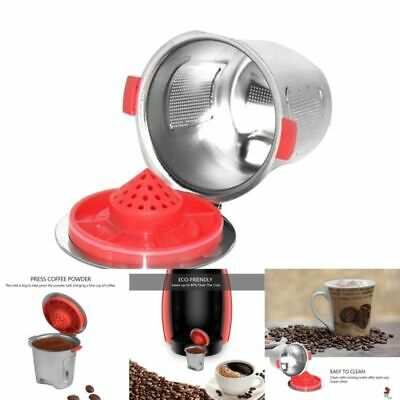 Reusable Stainless Steel Capsule Pod Cup For Nespresso Coffee Machine Silver US