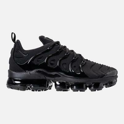Mens Nike Air Vapormax Plus Triple Black Dark Grey 924453-004