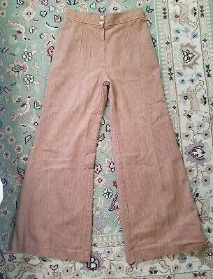 Vintage, High Rise Bell Bottoms, Soft Fawn Brown, XS-S