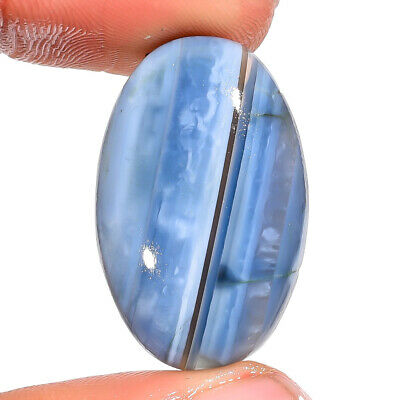 19.95 Ct Natural Owyhee Blue Opal Oval Cabochon Loose Gemstone 29X15X7 mm DS4332