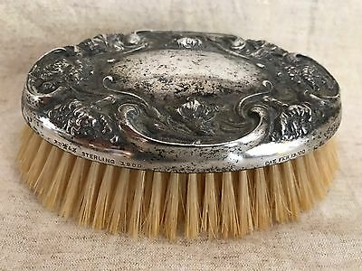 Sterling Silver Antique Grooming Brush!! Stamped Pat. Pending 1900!! Gorgeous!!