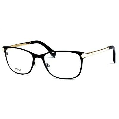 fe772dcbc0 New Fendi FF0036 FF 0036 SCH Eyeglasses Black White Frame Authentic Eye-wear  52