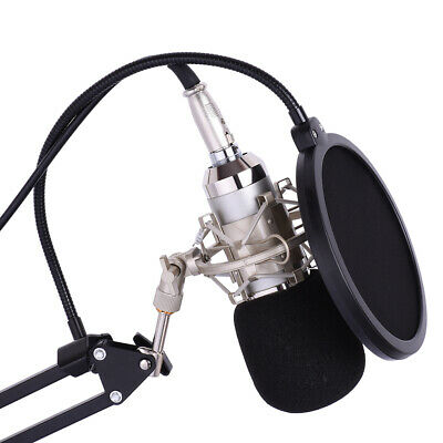 Professional Studio Broadcasting Recording Condenser Microphone Mic Kit Set K9A0