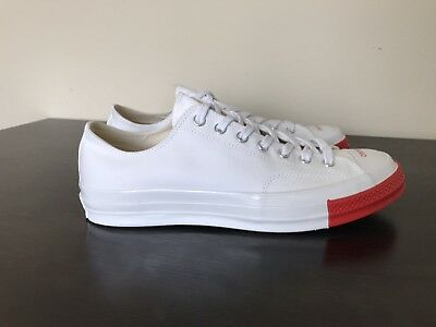 7549090cb23d Converse X Undercover Chuck Taylor Mens Size 10.5 White Red  163013C24