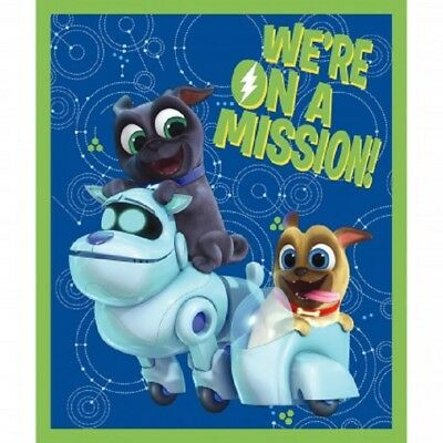 Disney Puppy Dog Pals We're On A Mission Cotton Quilting Fabric Panel