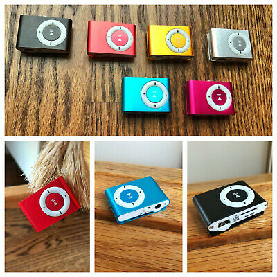 Portable MP3 Player Mini Clip MP3 Player w 16 GB Memory, Earbuds BundleUS Seller
