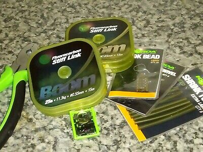 Korda Ready crimped booms 8 inches x3 brand new