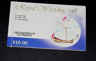 Grenadines Of St. Vincent 1981 Royal Wedding Charles And Diana Booklet  Mint