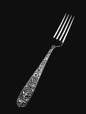 """🍴 S. Kirk and Son Inc. Sterling Silver Repousse True Dinner Fork -7 3/4"""" 👍"""