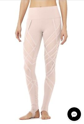 55b9f12065da2 Alo Yoga HIGH-WAIST WRAPPED STIRRUP LEGGING NWT Size S Color nectar
