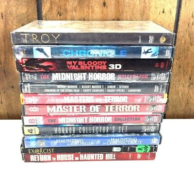 HORROR MOVIES: My Blood valentine, The Exorcist, 3 Master of terror Lot of 12