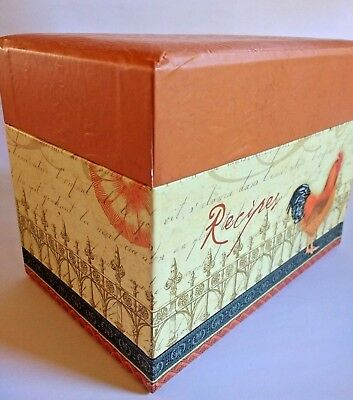 C.R. Gibson Patterned Recipe File Box with 12 Tabbed Dividers +40 Recipe Cards