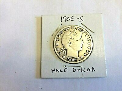 U.s. 1906-S Barber Half Dollar Extra Fine Condition & Detail - In A Mylar Flip