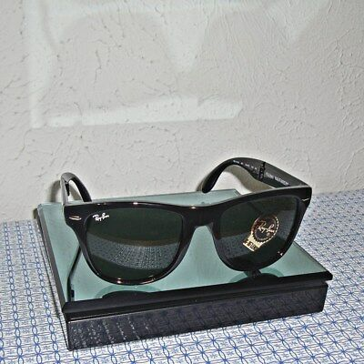 b2f7782eba2 NEW RAY-BAN RB4105 601S FOLDING WAYFARER 54mm Matte Black G-15 Green ...