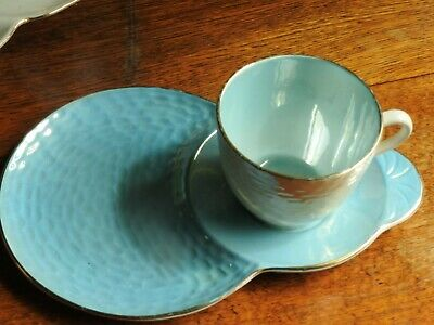 Collectable Tennis set, cup saucer/plate, [ Blue] Maling England