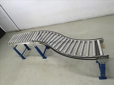 "S Shape Roller Conveyor 15"" x 94"" x 26.75"" High ( Used and Tested )"