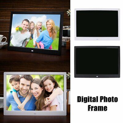 HD Digital Photo Frame 17 Inches Front Touch Buttons Multi-language LED Screen C