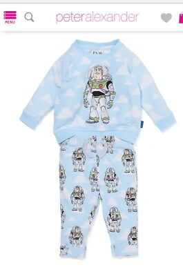 Peter Alexander baby pyjamas toy story BUZZ size 0/3mths -brand new in gift box.