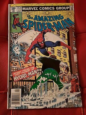 Amazing Spiderman 212 Jan 1981 VG/VG+ 1st app Hydro Man Far from Home Movie 2019