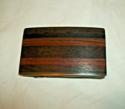 Vintage Kenneth Reid Inlaid Wood Brass Buckle New Mexico
