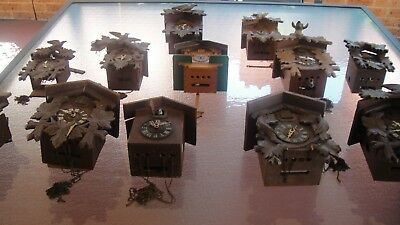 Mechanical Cuckoo Clocks Not Working - Only For Parts.