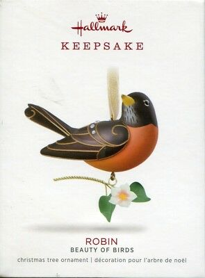 2018 Hallmark Keepsake Ornament Robin Beauty of Birds 14th in Series