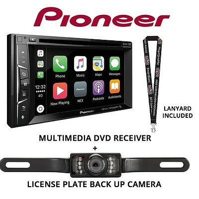 """Pioneer AVH-1330NEX DVD 6.2"""" Receiver & License Plate Back Up Camera Included"""