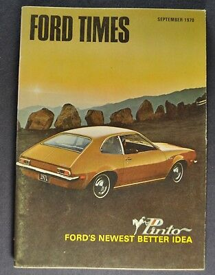 1970-1971 Ford Times Pinto Intro Brochure Mustang Torino Excellent Original