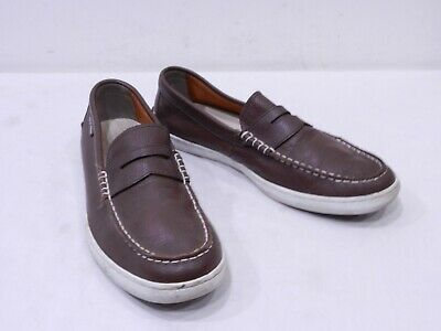 0dc1e854542 Cole Haan Pinch Grand OS Mens 10.5 Brown Leather Moc Toe Half Strap Penny  Loafer