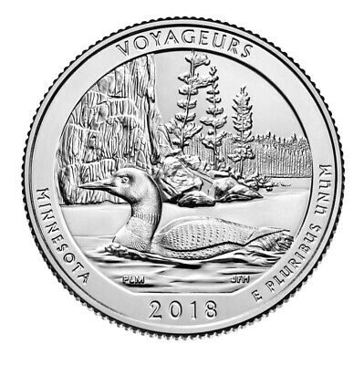 2018-S Voyageurs National Park Quarter Uncirculated BU