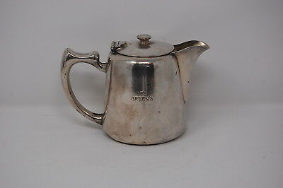 Silver Plate Tea Pot - Green's Engraved to side