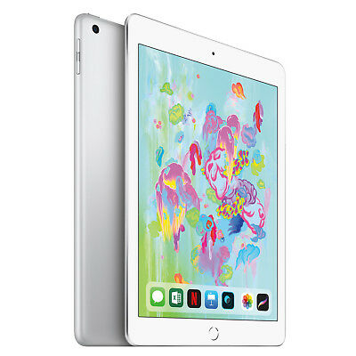 HOT SALE!!! Apple iPad 6th Gen. 128GB, Wi-Fi, 9.7in - Silver EXCELLENT CONDITION