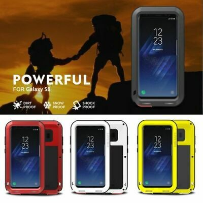 LOVE MEI Shockproof Waterproof Aluminum Metal Case Cover for Galaxy S8 & S8 wHD