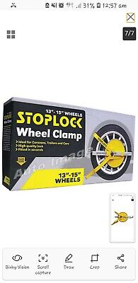 "Stoplock HG40000 Wheel Clamp Lock 2 Keys 13"" 14"" 15"" Rims Anti Theft Security"