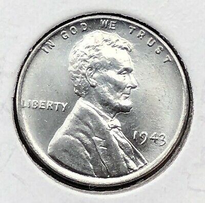 1943 Lincoln Wheat Cent  BU MS Steel Penny