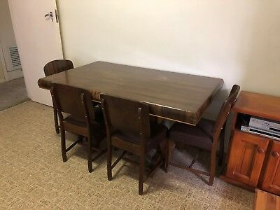 1950's Antique vintage dining table and chairs