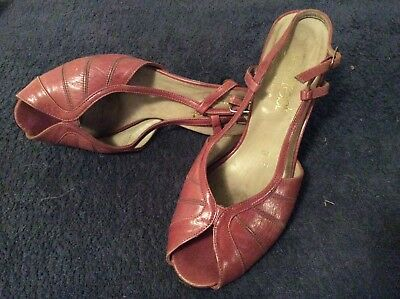 Vintage All Leather Footrest Late 1970s ,newly Heeled-6B- Australian